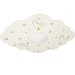 Witte babykamer plafondlamp