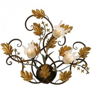 klassieke wandlamp herfst blad brons