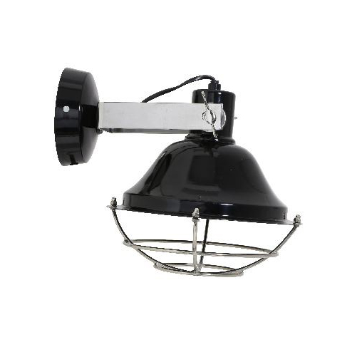 Zwart-stoer-wandlampje