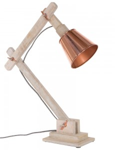 Houten bureaulamp Light&Living Nora